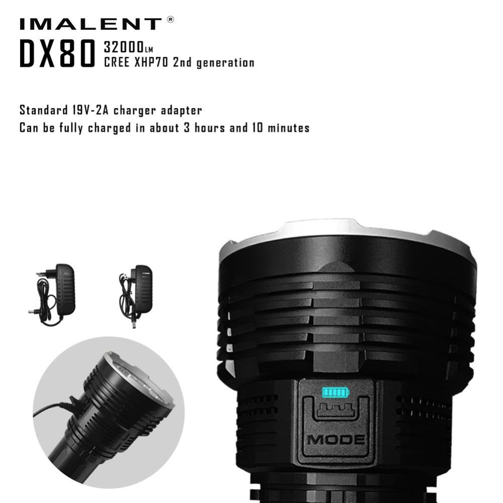 DX80 Cree XHP70 LED Flashlight 32000 Lumens 806 Meters USB Charging Interface Torch Flashlight by bestpriceam (Image #4)