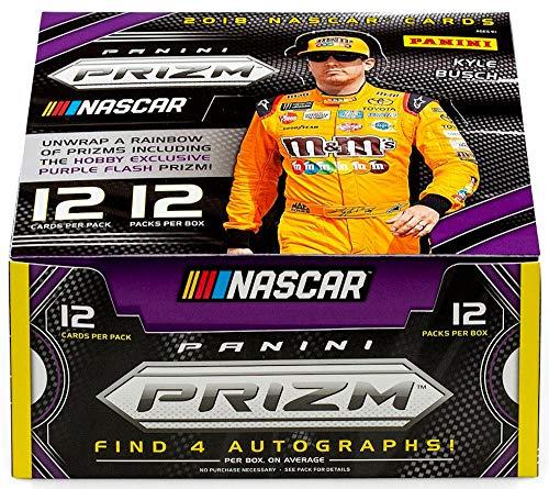 Nascar Racing Collectibles - 2018 Panini Prizm NASCAR Racing HOBBY box (12 pk, FOUR Autograph cards)