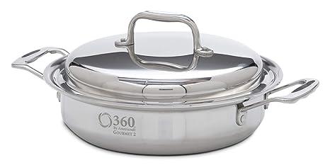 Amazon.com: 360 Cookware – Cacerola con tapa de acero ...