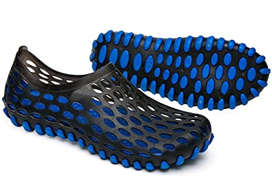 Men's Clog Sandals Outdoor Water Shoes (7.5 D US/41 Black Blue)
