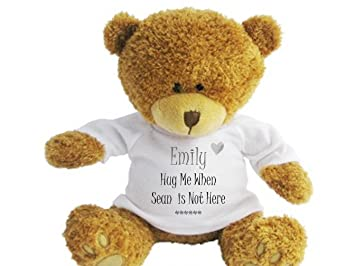 bd721f0fe4d Personalised Teddy Bear Romantic Message - Hug Me. Suitable for Birthday