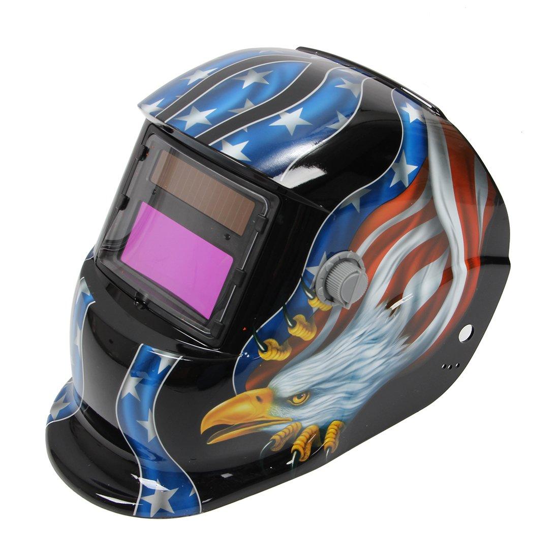 Welding Helmet - SODIAL(R) Solar Auto Darkening Welding Helmet Mig Tig Arc Milling welders mask
