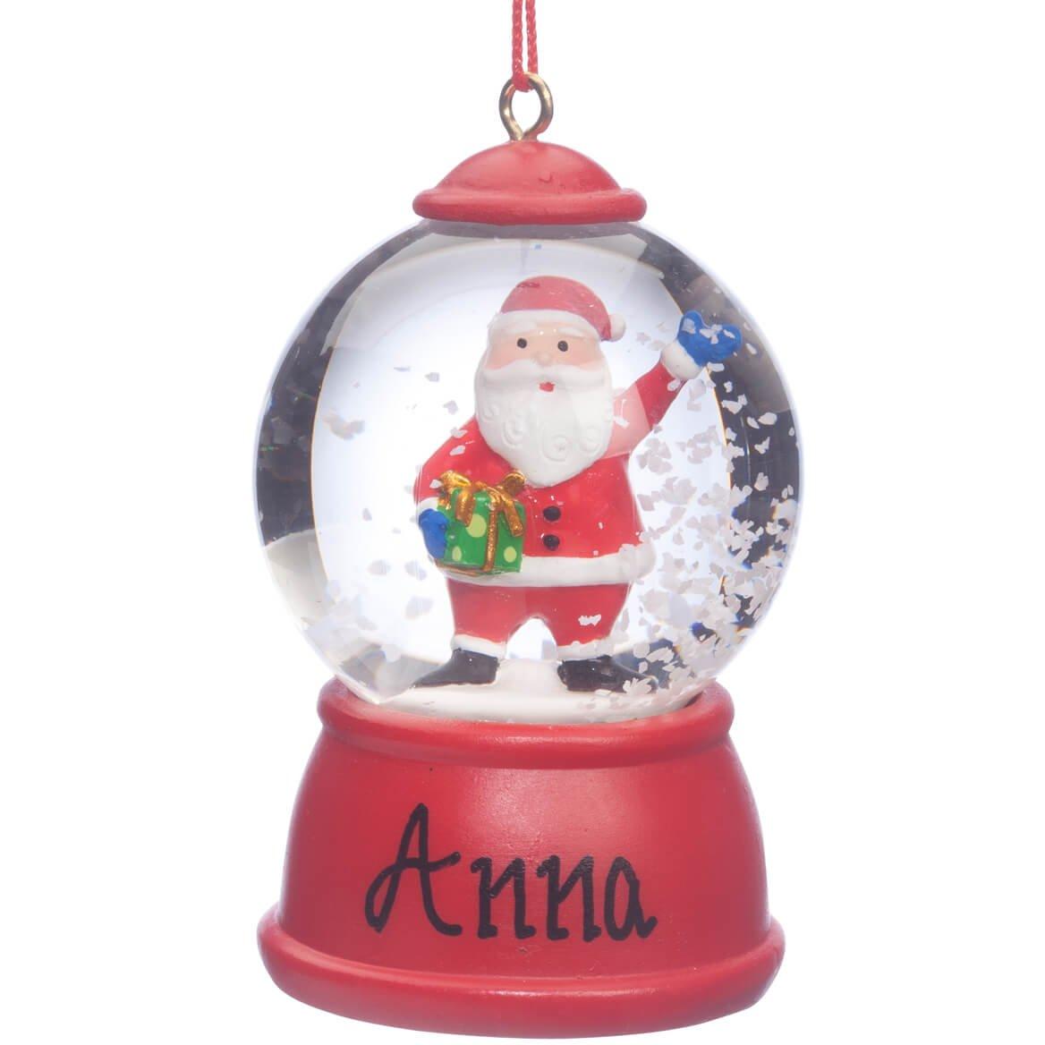 Miles Kimball Personalized Santa Waterglobe Ornament