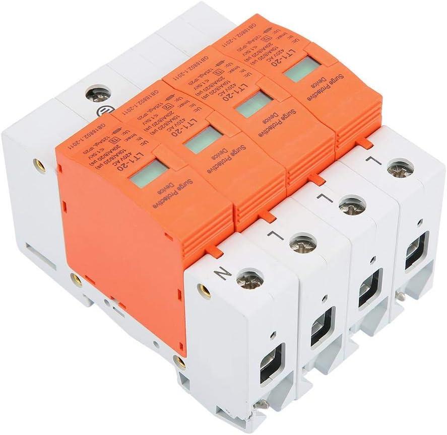 /Überspannungsschutz 4P AC420V 20KA Ableitger/ät Niederspannungs-Blitzschutz /Überspannungsschutz 3-phasige 4-Draht-Verkabelung