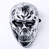 QTFHR Halloween Mask Party Cosplay Dress Up Mask Adult Horror Cosplay Masquerade Party (Silver)