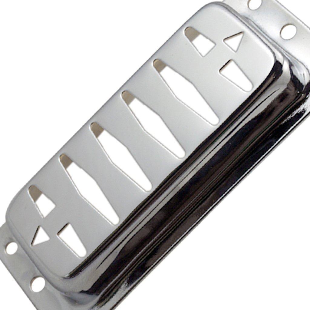Sharplace 2x Pastilla de Guitarra El/éctrica de Lat/ón Humbucker Pickup Cubre Cuello Instrumento Musical Plata
