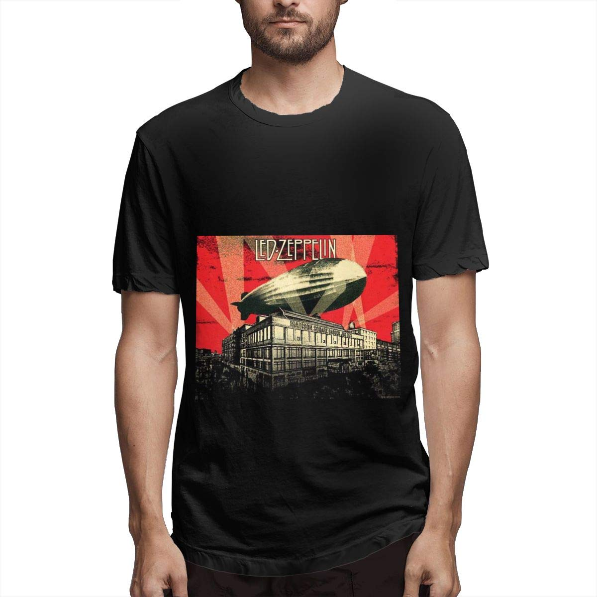 Lihehen Man Led Zepplin Simple Casual Round Neck T Shirts