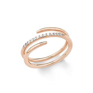 d3fb230f0259 S.Oliver Damen-Ring 925 Silber Zirkonia weiß  Amazon.de  Schmuck