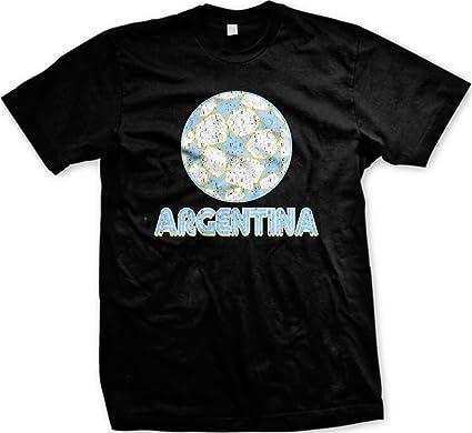 Argentina para hombre T-camiseta de manga corta de balón de fútbol ...