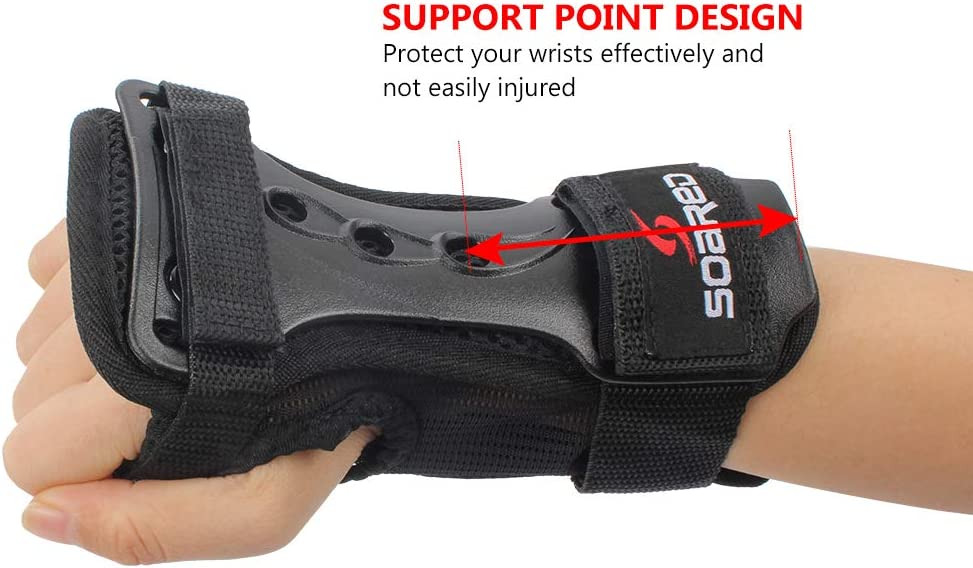 Wrist Guards LALATECH Skateboard Gloves Wrist Protection Snowboard Wrist Guards for Skating Skateboard Skiing Snowboard Motocross Multi Sport Protection