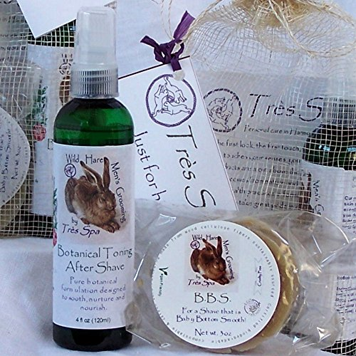 Très Spa Gift Set Wild Hare Men's Grooming Pair | Organic Shaving Soap & After Shave | Gifts Just for Him!