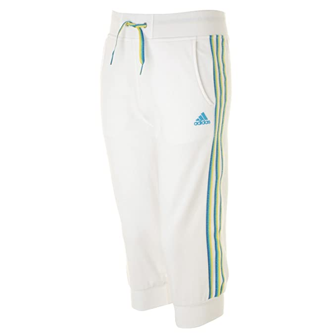b7c5a8c7ffca9 Adidas 3/4 Pants Capri Trousers Childrens Kids Cotton shorts Bottoms Sports  Track Training jogging