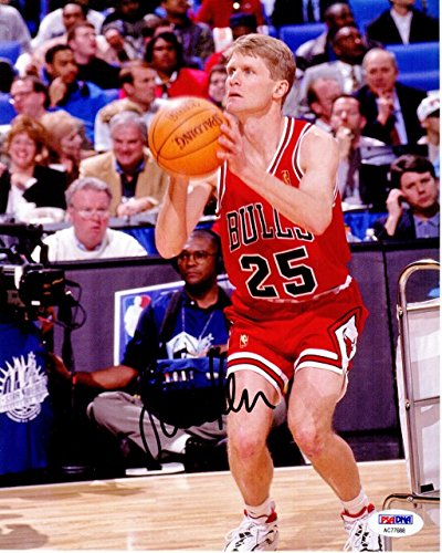 27f466e3e Image Unavailable. Image not available for. Color  Steve Kerr Signed -  Autographed Chicago Bulls ...