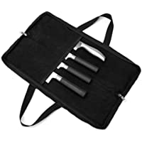 Chef's Travel Knife Case(4 Slots), Heavy Duty Knife Bag with Durable Handles, Portable Waterproof Knife Storage for Men…