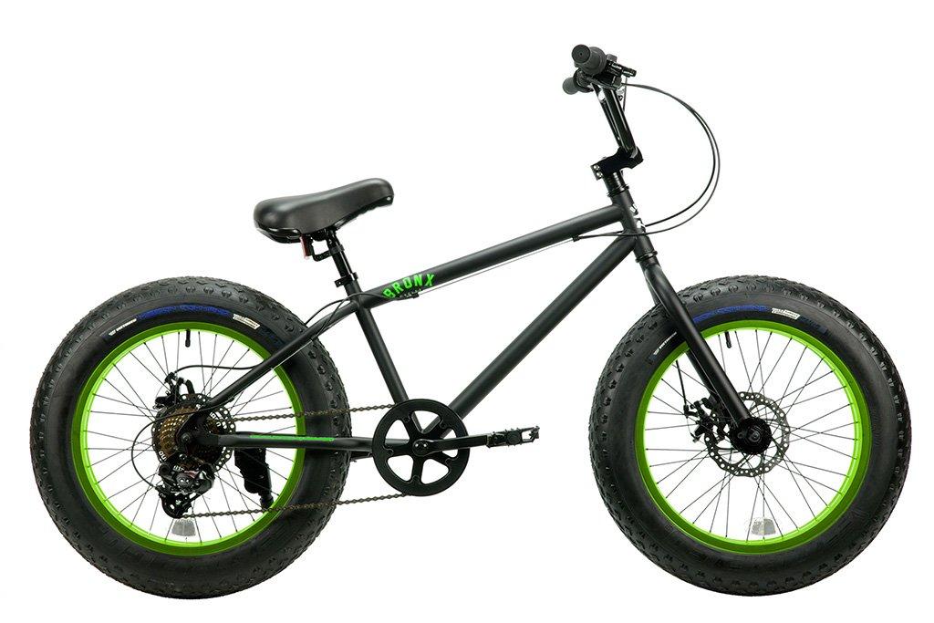 【 20インチ BRONX 20DD FAT BIKE@50760 】 ブロンクス ファットバイク 自転車 サイクル B07C1RJ7DCブラック×ライム