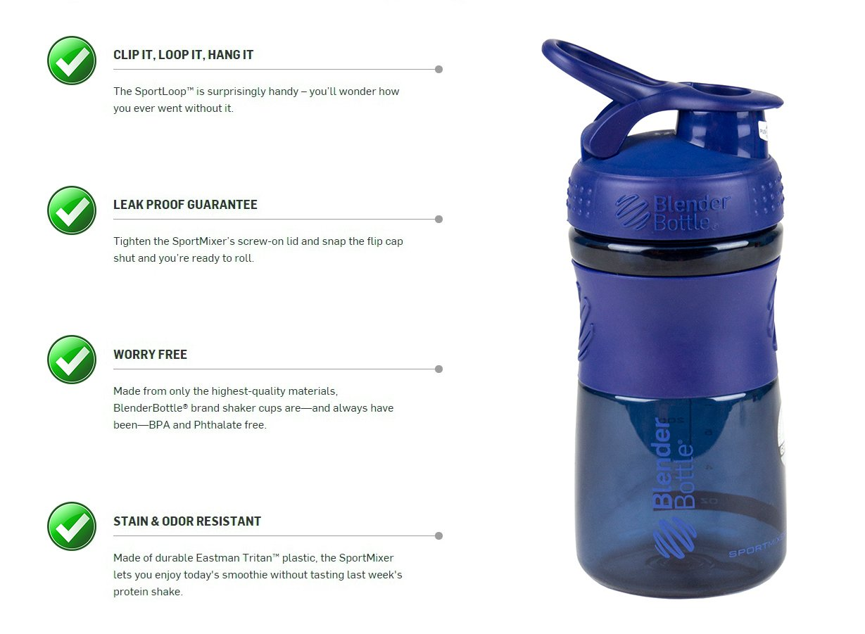 PLUM Genuine 20-oz Odor-resistant BPA-Free Shaker Sport Mixer Bottle With Blending Ball Inside and Leak Proof Secure Top 2PO COMIN18JU058655