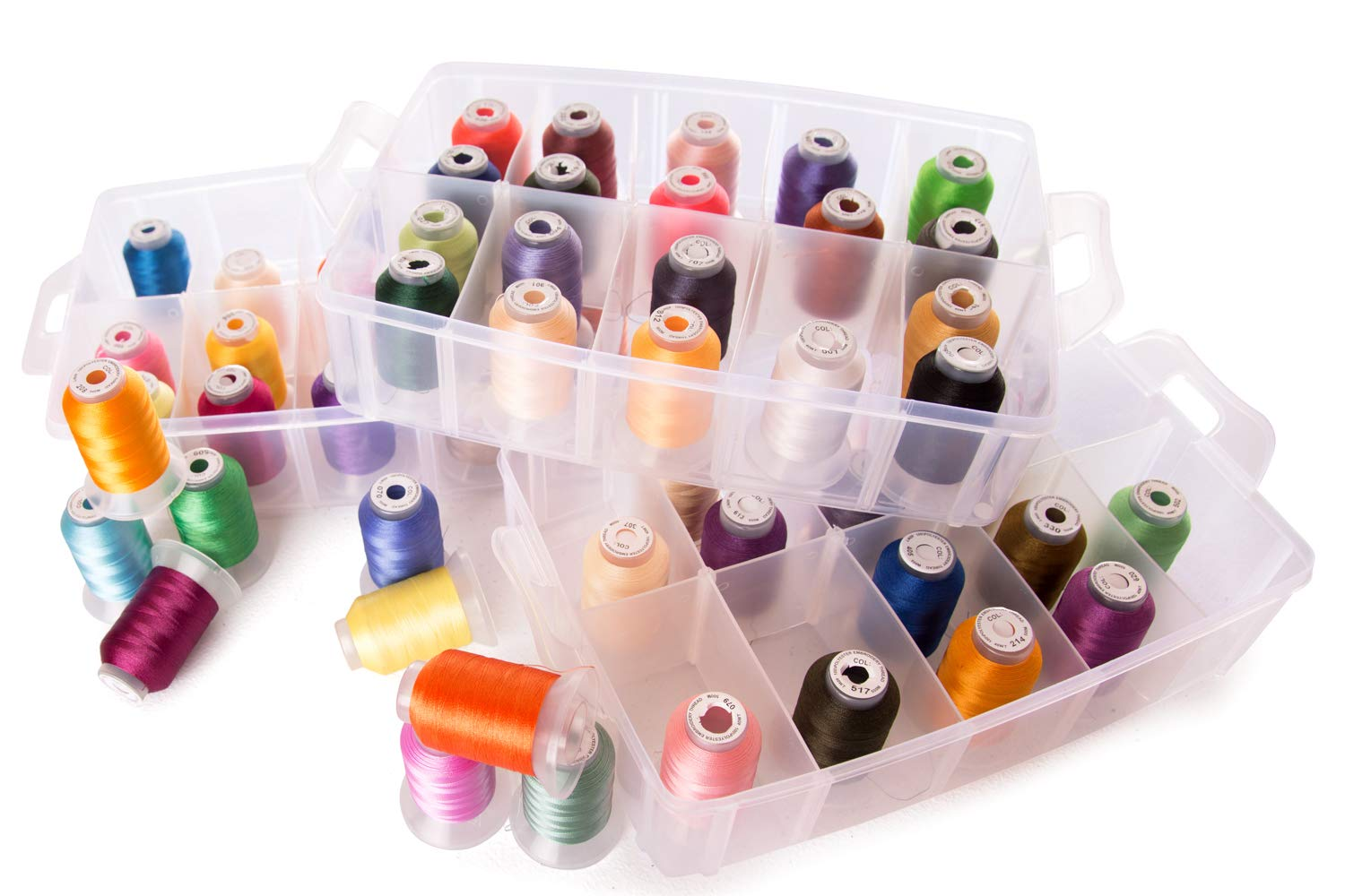 60 Spools Polyester Embroidery Machine Thread & Storage Container by Embroidex