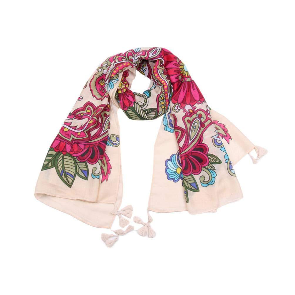 Boomdan Women Scarf Sleeve Stripe Print Scarf Tactical Desert Scarf Wrap (Red)