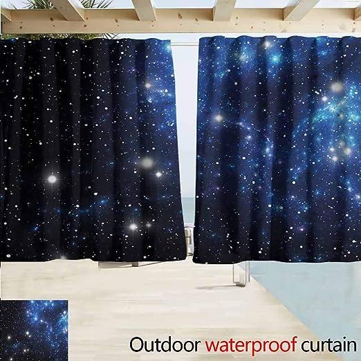 Zmcongz Constellation - Cortina de Exterior Extra Larga de Nebulosa Gigante en Colores Vivos con Movimiento Espacial, Patio, Porche, cenador o pérgola, Color Rosa, Azul y Negro: Amazon.es: Jardín