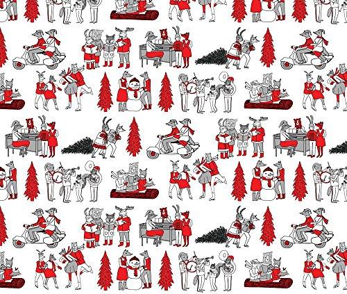 vintage christmas fabric - 7