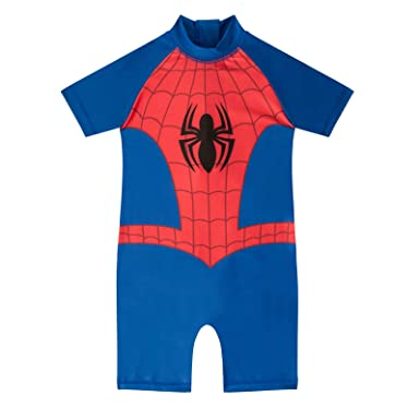 9a0b459a13 Marvel Comics Spiderman Gift Toddler Boys Kids Swim Surf Suit Blue 3-4  Years: Amazon.co.uk: Clothing