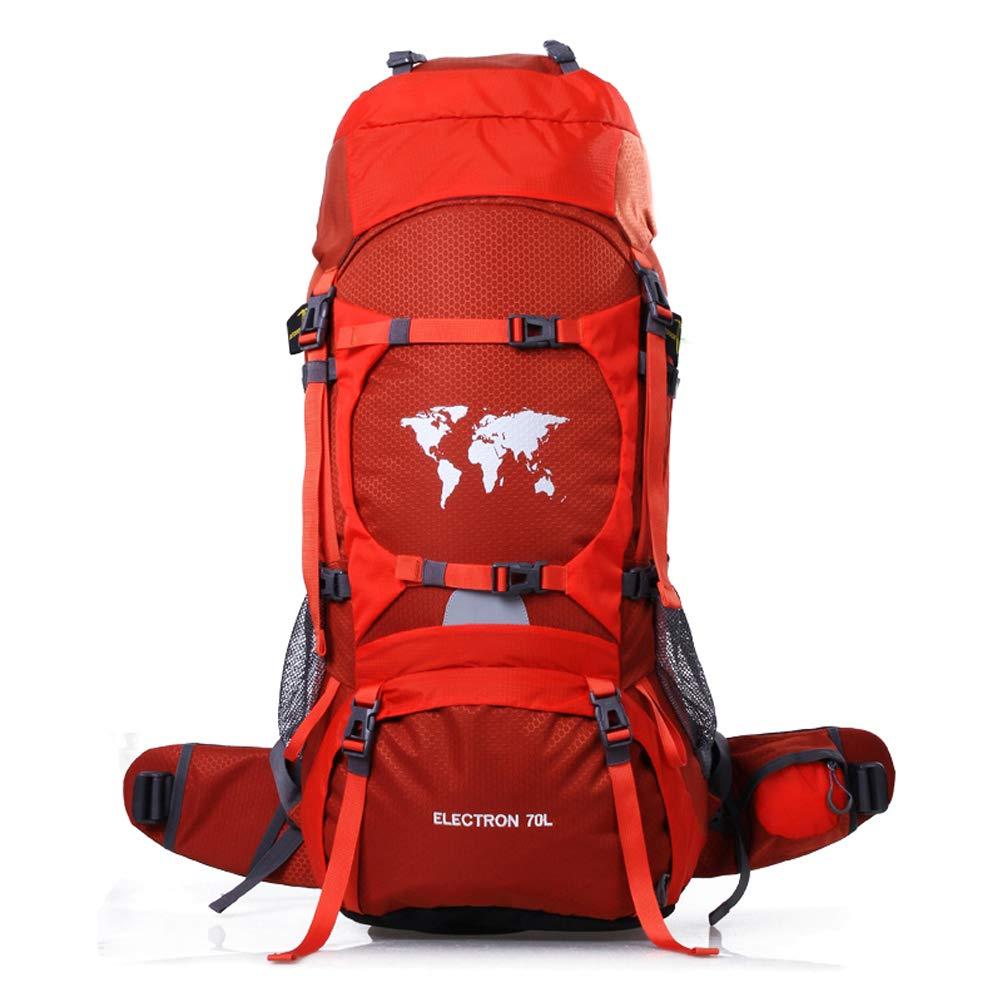 Wing Enterprises 大容量 登山バッグ アウトドア 旅行 バックパック 60L 防水 ハイキング 登山 キャンプ 登山 内部フレームバックパック 男女兼用 B07QZW79TS レッド