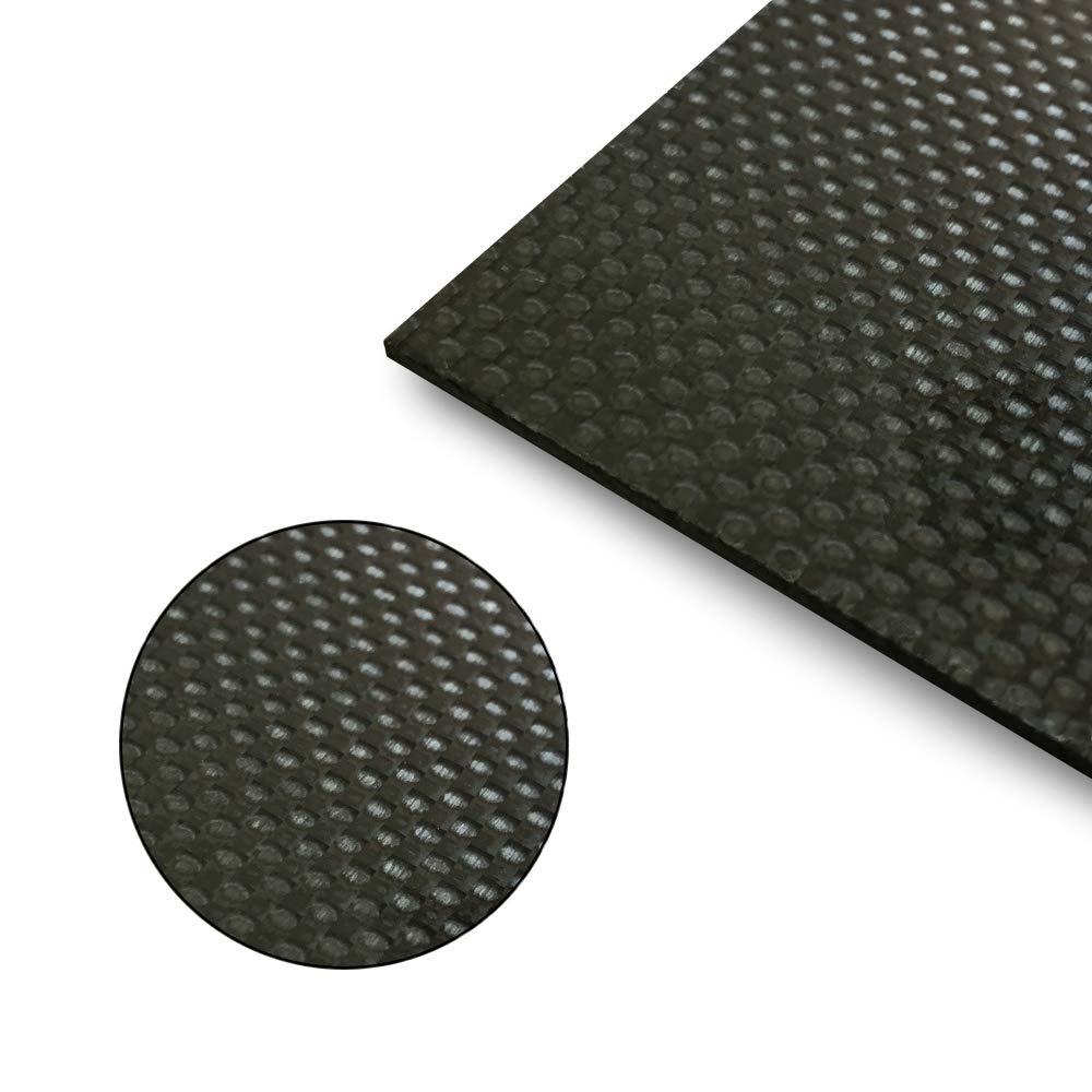 CARBONMAKE 500X500X2.0mm 100% 3K TORAY Carbon Fiber Plate Plain, 2mm Thickness (Glossy Surface) by CARBONMAKE