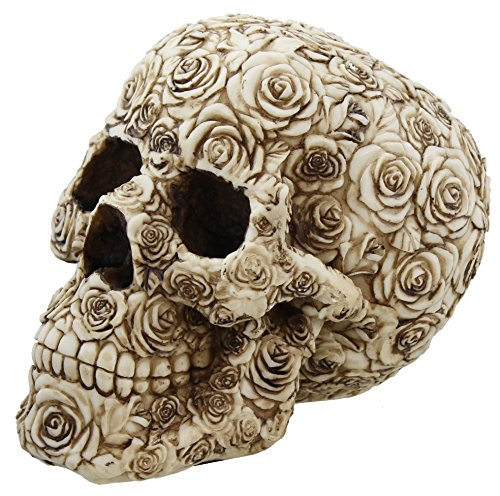 Decorative Skulls (Decorative Ornate Rose Flower Skull Figurine)