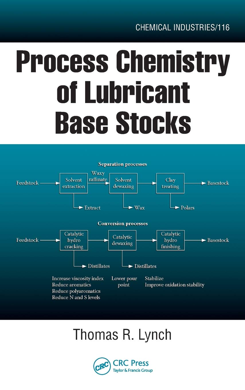 Process Chemistry Of Lubricant Base Stocks  Chemical Industries Band 116