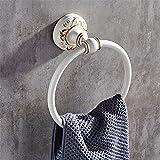 LAONA European style rural white aluminum alloy bathroom fittings, towel bar, toilet paper rack,Towel ring