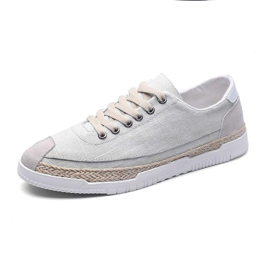 schuheDQ Casual Herrenschuhe Canvas Größe 24,5 24,5 24,5 cm bis 27,5 cm Grau All Seasons Wear Board Schuhe Freizeit a6dfed