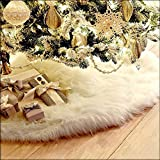 SLZZ Christmas Tree Skirt - Luxury Plush Carpet Christmas Tree Skirt Base Floor Mat Cover - For Xmas Decoration New Year Home Party Supplies