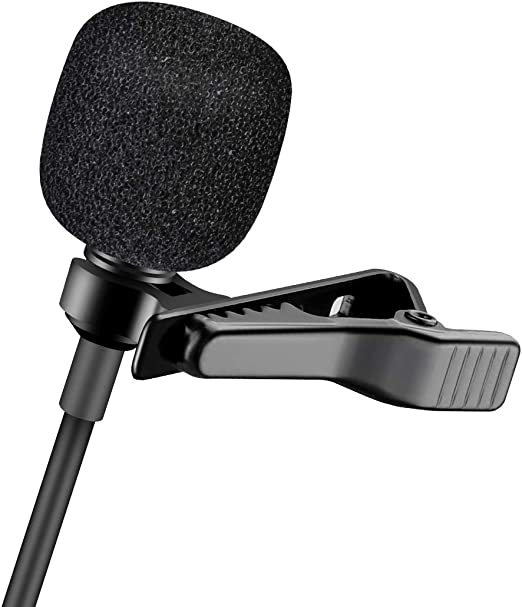 Interview Omnidirectional Condenser Mic for Camera Tablets and PC DSLR Video Recording/… Perfect for YouTube ENEGON Lavalier Lapel Microphone DV Camcorder and iPhone//Android Smartphone