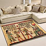 ALAZA Retro Antique Egyptian Papyrus Area Rug for Living Room Bedroom 5'3 x 4'