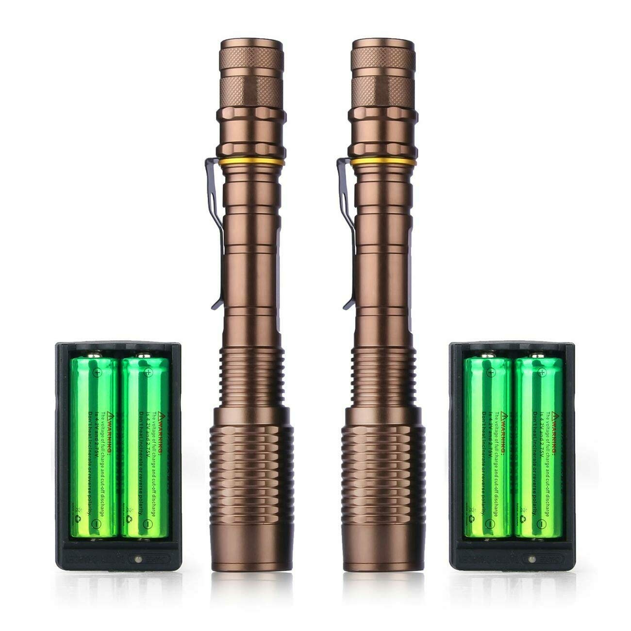 2X Linterna LED Lampara Recargable Súper Luminosa Resistente ...