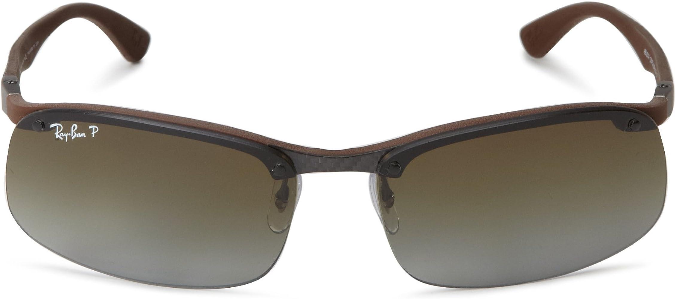 RAY BAN Gafas de sol RB 8314 128/T5 Oscuro Carbon Rubber Brown 61MM: Amazon.es: Ropa y accesorios