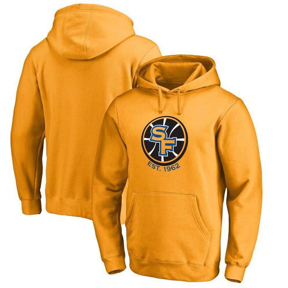 jaune X-grand WSX Sweat à Capuche NBA à Capuche oren State Warriors pour Hommes De Sports Lettre Décontracté De La Mode pour Les Jeunes T-Shirt Lakers,noir-XL
