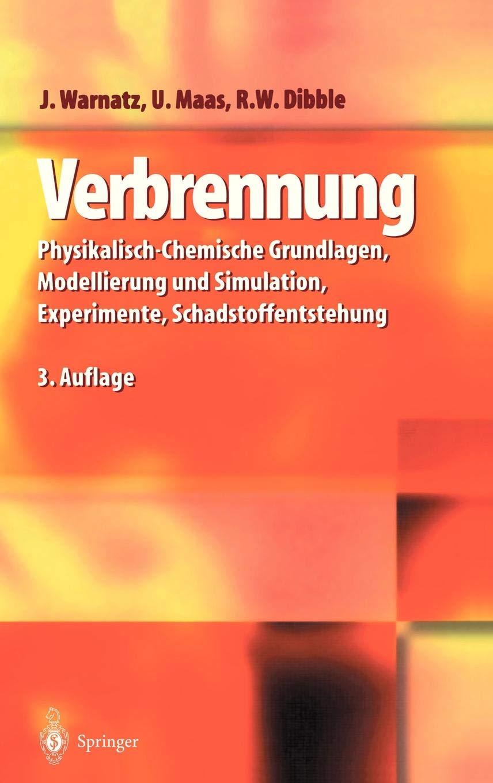Verbrennung  Physikalisch Chemische Grundlagen Modellierung Und Simulation Experimente Schadstoffentstehung