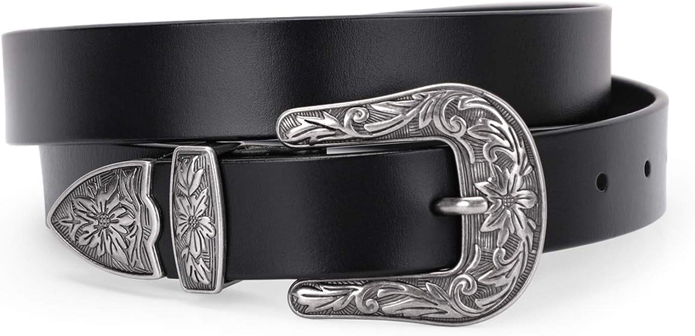 Ladies Women Boho Vintage Belt Buckle Belt Woman Thin Narrow Leather BeltsWFIT