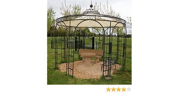 Pérgola, cenador, glorieta de rosas, glorieta de hierro, metal redondo Holland, diámetro 260 cm (hierro sin revestimiento): Amazon.es: Jardín