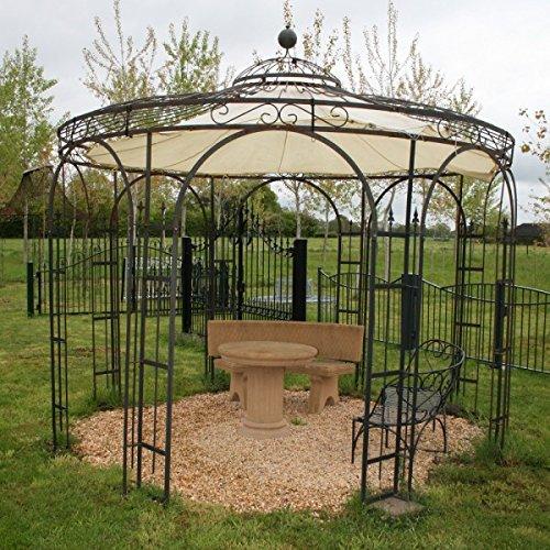 Gartenpavillon metall eckig  Amazon.de: Gartenlaube, Garten Pavillon, Rosenpavillon, Pavillon ...