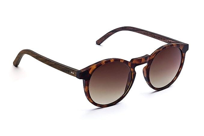 TAKE A SHOT Emma - Gafas de sol, patilla de madera de nogal ...