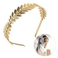OZUAR Bandeau Cheveux de Feuille Serre-tête Couronne de déesse Romaine Fée mariée Accessoires pour les Femmes et les Filles