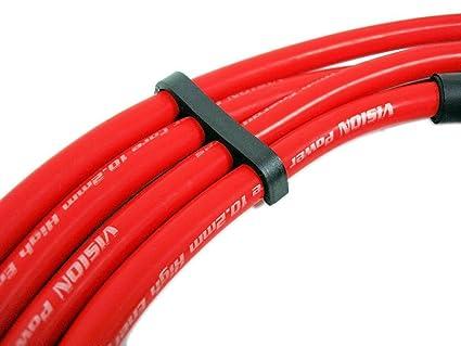 97 - 00 VMS Racing 10,2 mm de alto rendimiento motor Premium para bujías Cables Alambre Set en rojo para Civic tipo R CTR EK9 DOHC VTEC - JDM B16 97 98 99 ...
