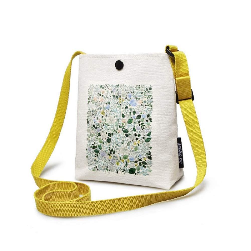 Urmiss Vintage Printed Women Mini Crossbody Bag Cellphone Pouch Small Handbag Coin Purse Colorful Backpack