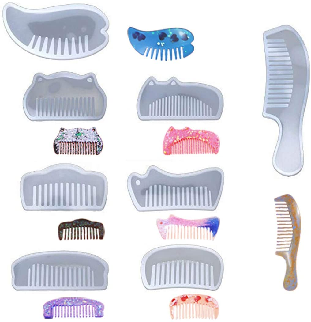 Silicone Comb Mold Transparent Resin Epoxy UV Resin Molds DIY Making Tools