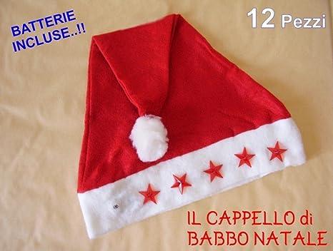 arriva la migliore vendita bambino CAPPELLO di BABBO NATALE LUMINOSO 12 Pezzi