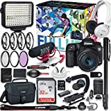 Canon EOS 7D Mark II DSLR Camera (Wi-Fi) Premium Video Creator Kit with Canon 18-55mm Lens + Sony Monitor Series Headphones + Video LED Light + 32gb Memory + Monopod + High End Accessory Bundle