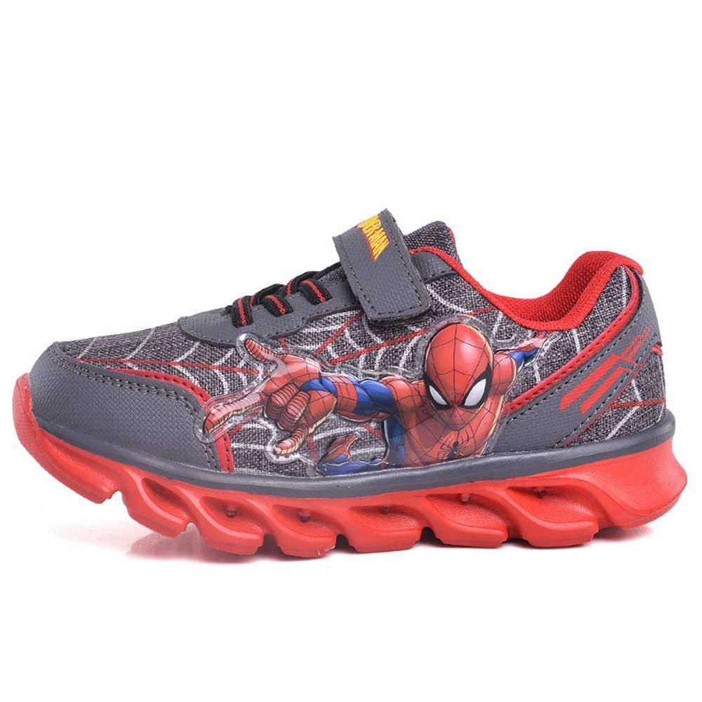 ROKIDS Boys Spider-Man Flashing Lights Running Shoes