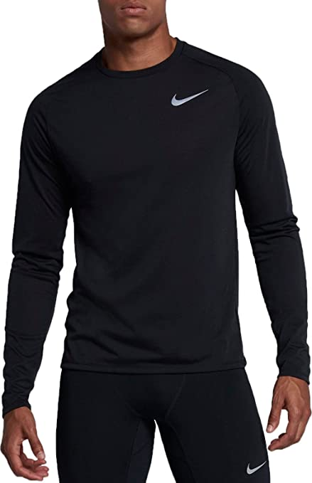 4bc1b09b Amazon.com : Nike Men's Breathe Long Sleeve Running Shirt : Sports ...